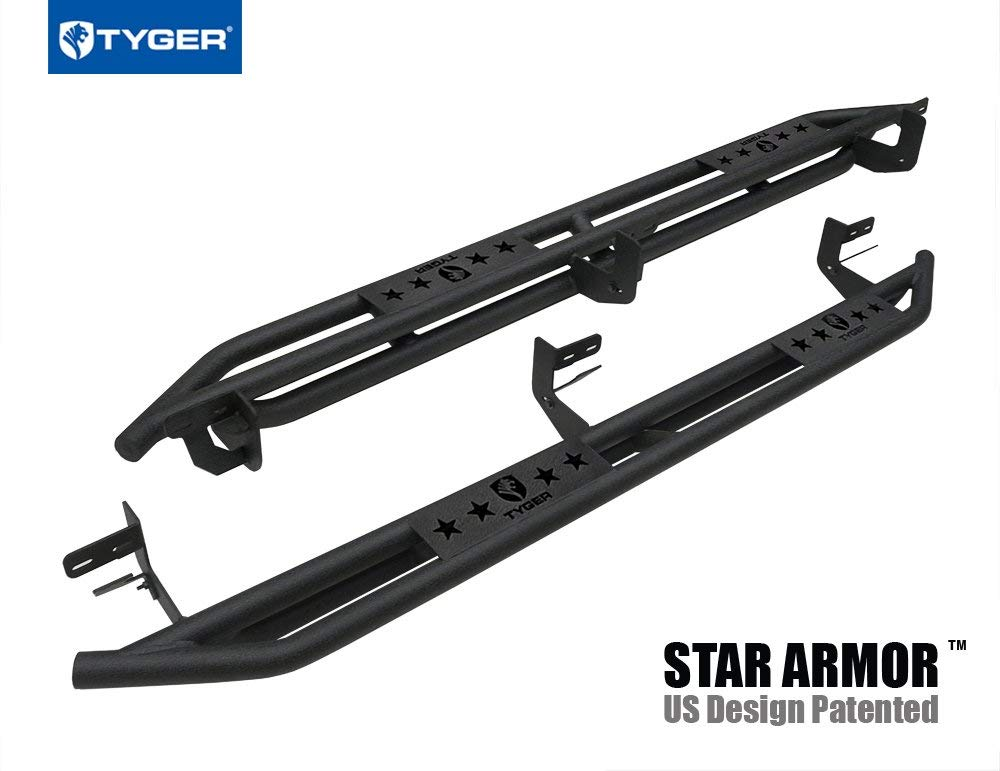 TYGER 5/'/' stainless side step bars Fit Ram 1500//2500//3500 Quad Cab New