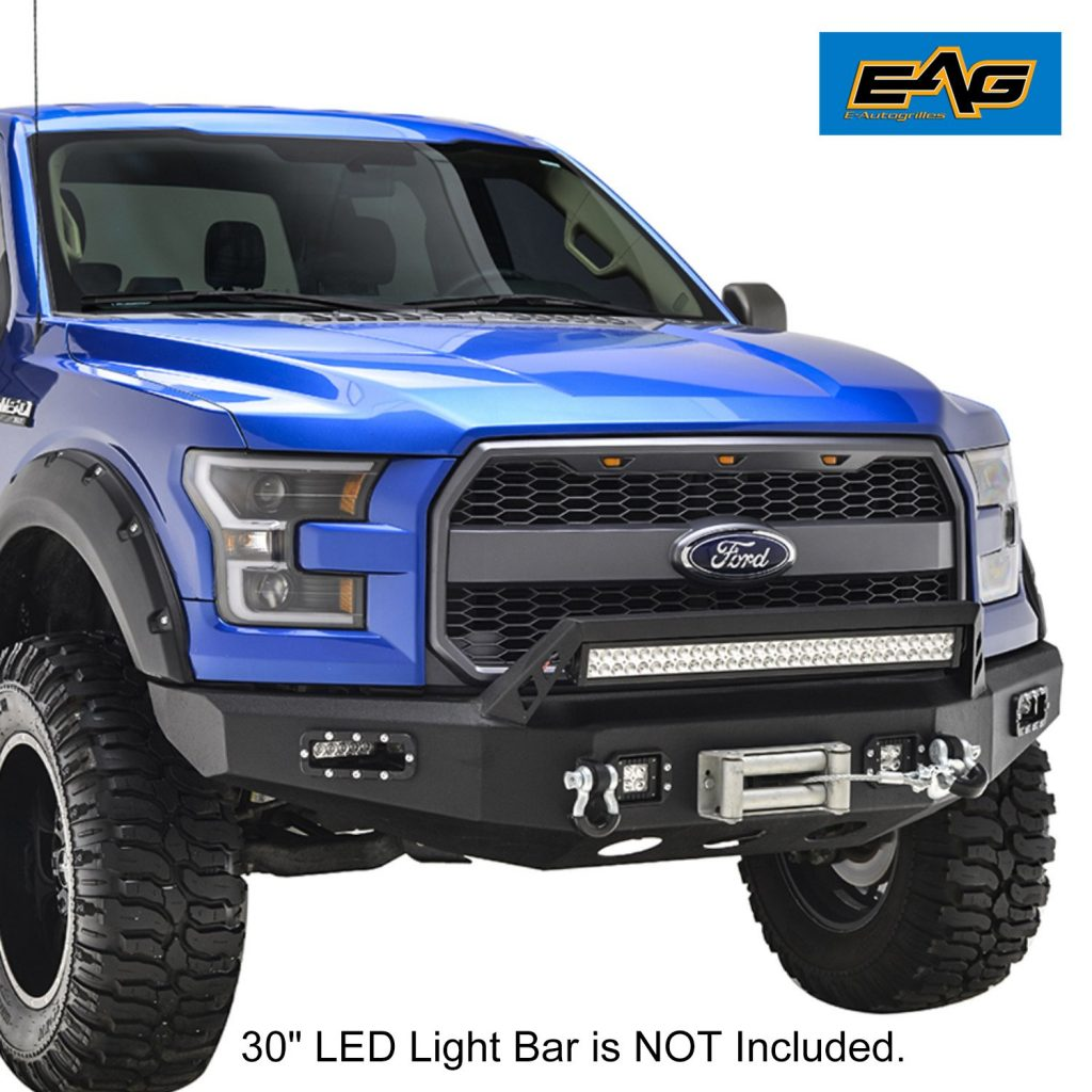E Autogrills Ford F150 15 17 Front Bumper With Winch Plate