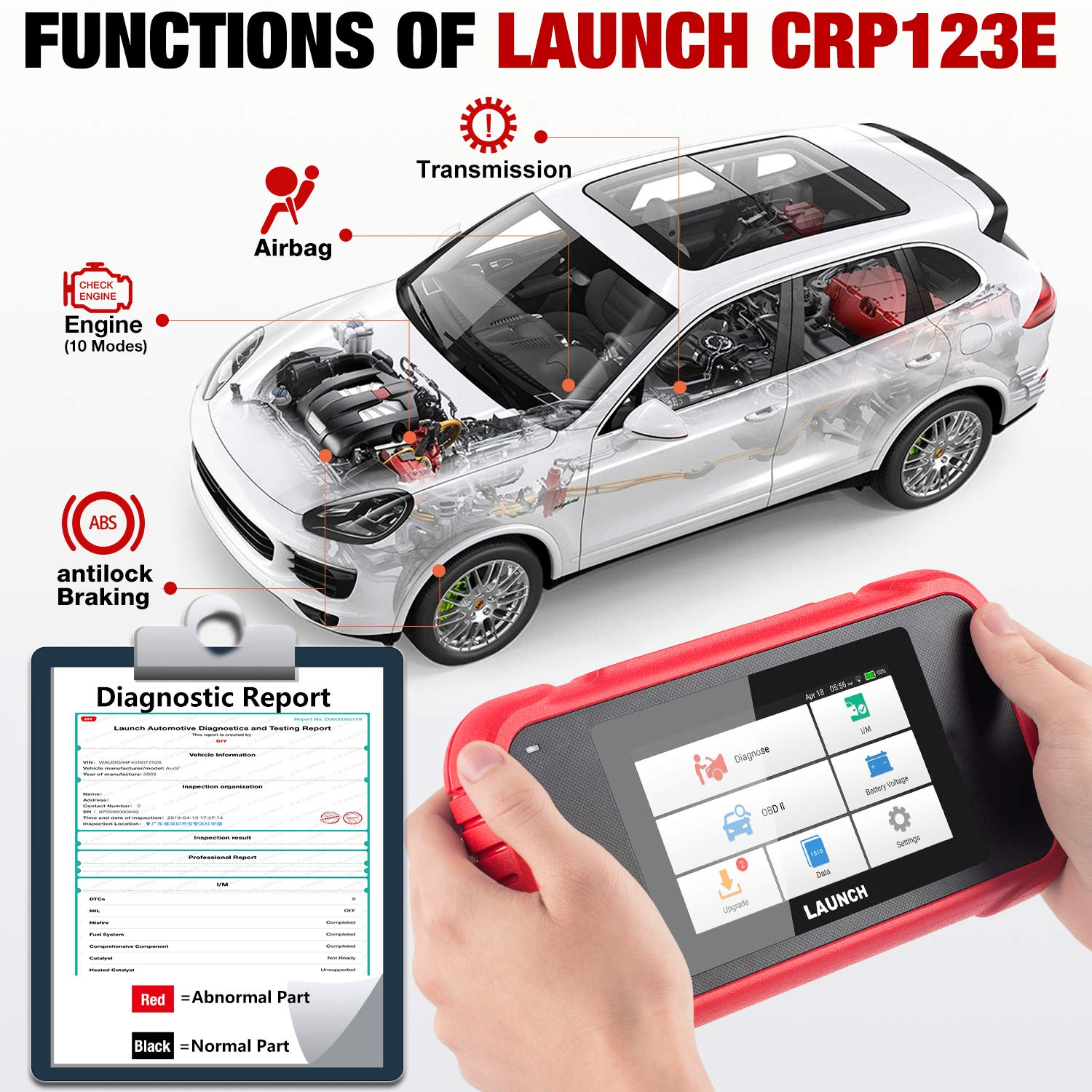 LAUNCH OBD2 Scanner CRP123E