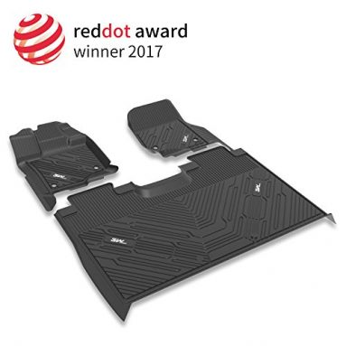 3W Floor Mats for Ford F150 SuperCrew Cab (2015-2019) Heavy Duty