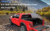 oEdRo Upgraded, Best Soft Tri-fold Truck Bed Tonneau Cover for 2015-19 Ford F150 5.5ft Short bed, Reviews