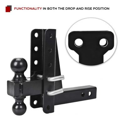 Adjustable 8 inch Drop/Rise Trailer Hitch