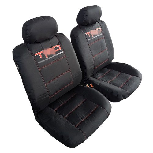 Airbag Safe Full Set Fabric Velour Seat Covers//Protectors Grey//Black For Toyota