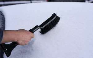 Get 15% OFF on Ice Scraper with Snow Brush 2-in-1 Windshield Removal Tool with Foam Grip for Car SUV Van and Truck