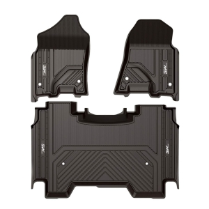 Best Floor Mats for 2019 Dodge RAM 1500 (New Models), 3W Floor Mats,Full-Crew Cab