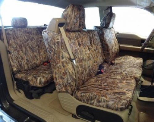 CarsCover Custom Fit 2004-2008 Ford F150 Pickup Truck Wetsuit Neoprene Car Front Seat Covers Camo and Black Sides Driver /& Passenger Cover Real Maple Forest Tree Leaf Camouflage Covers